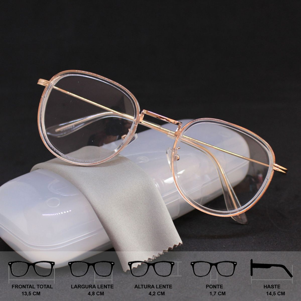 850c2eaed5ae8 não reativar - armação óculos para grau feminina vintage retrô fashion  transparente - óculos crius