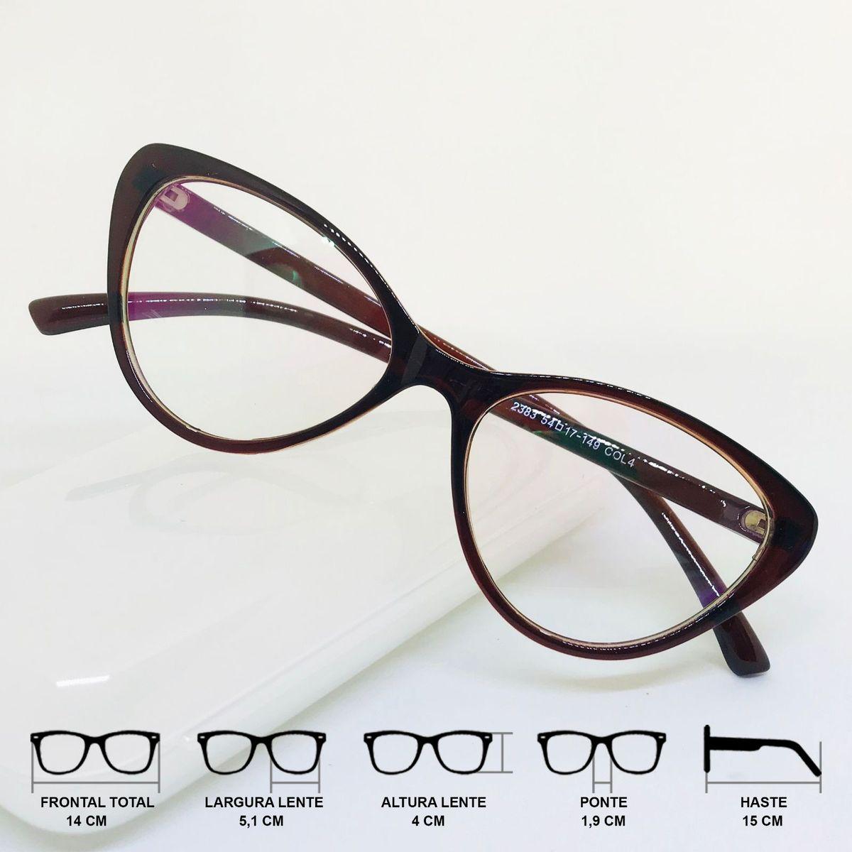 47e68005c Armação Óculos para Grau Feminino Gatinho Cat Eye Degradê Marrom | Óculos  Feminino Nunca Usado 33382581 | enjoei