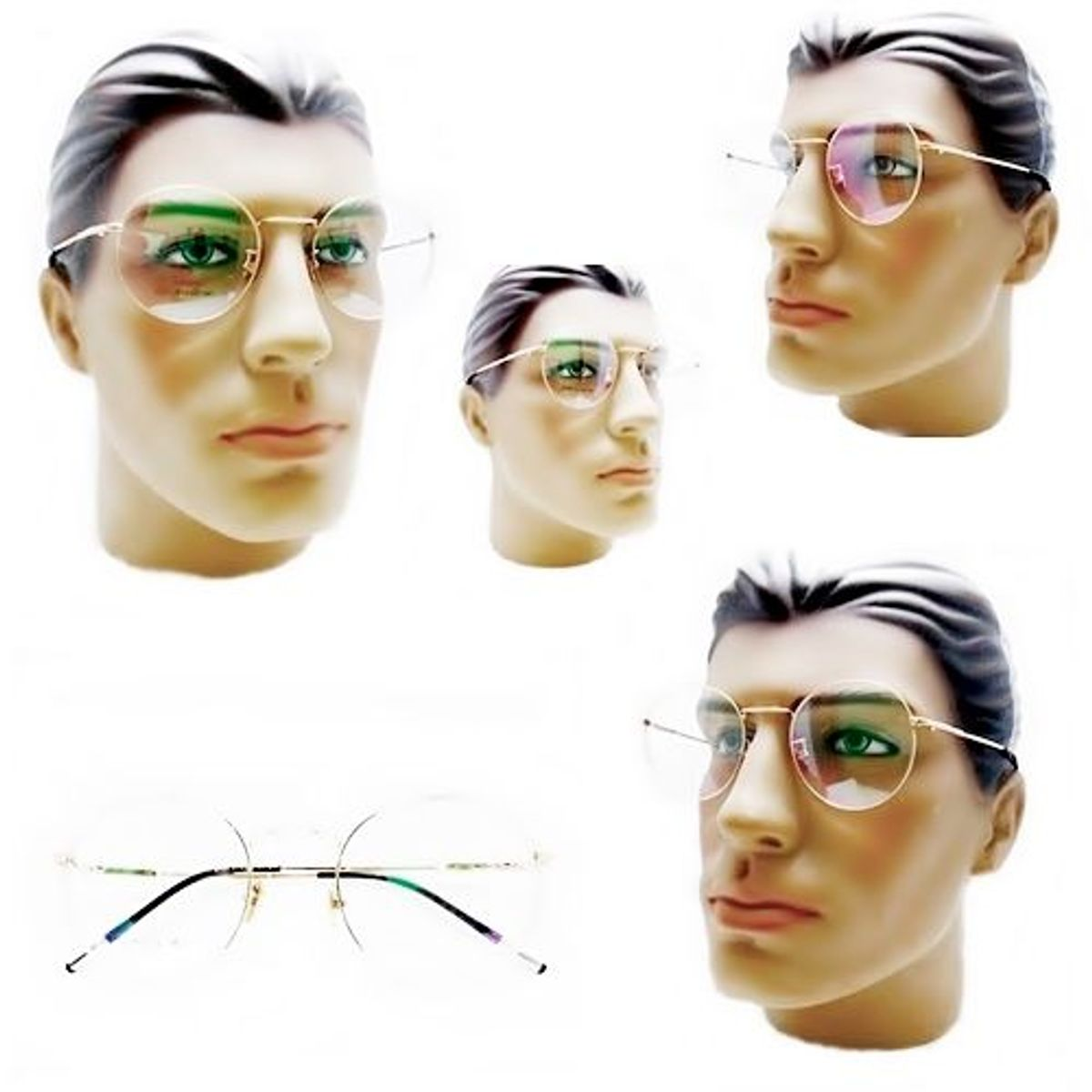 ad53f9c4a Armacao Oculos para Grau Masculino Redondo Retro Vintage Dourado | Óculos  Masculino Nunca Usado 32087314 | enjoei