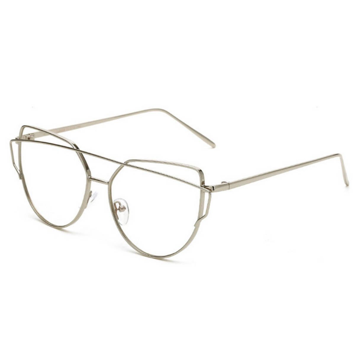 armação óculos para grau metálica prateado fashion hippie retrô pop - óculos  sem marca 79beb3ca6f