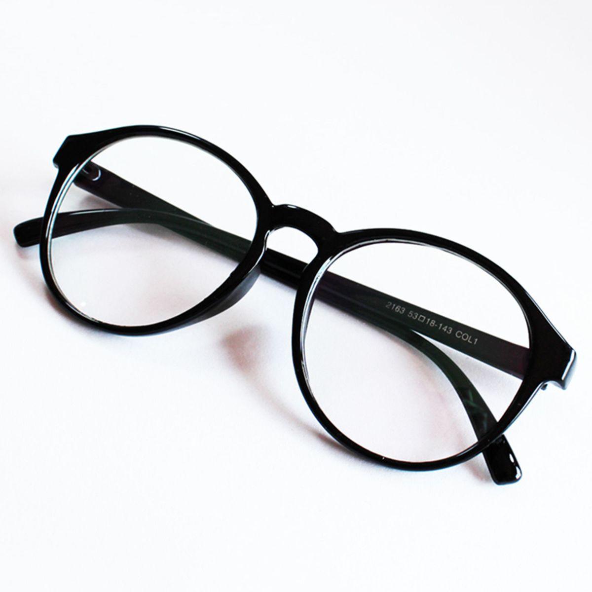 armação óculos para grau redonda feminina grande vintage preto - óculos sem  marca 522f657b70