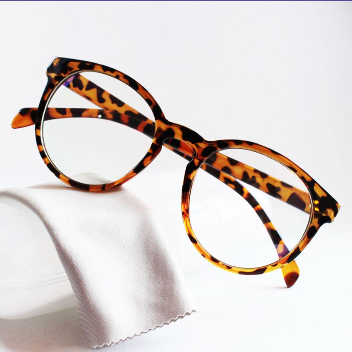 armação óculos para grau redonda feminina grande vintage tartaruga - óculos  sem marca 9563ba0fb9