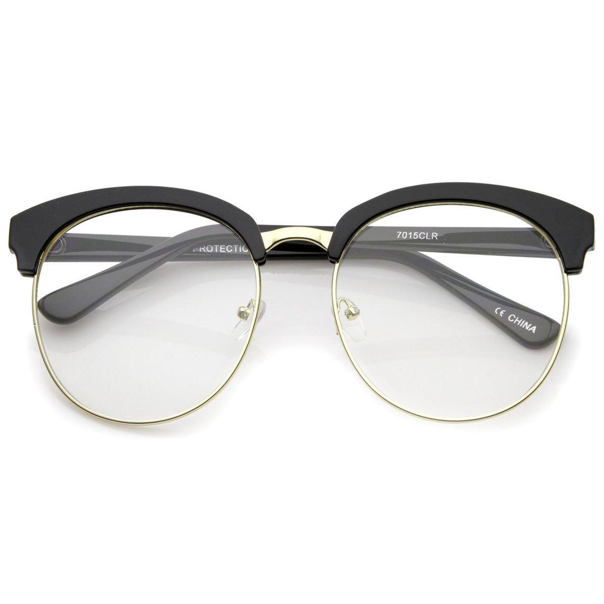 armação óculos para grau - unissex - hipster - redondo - óculos sem marca ef02d55b74