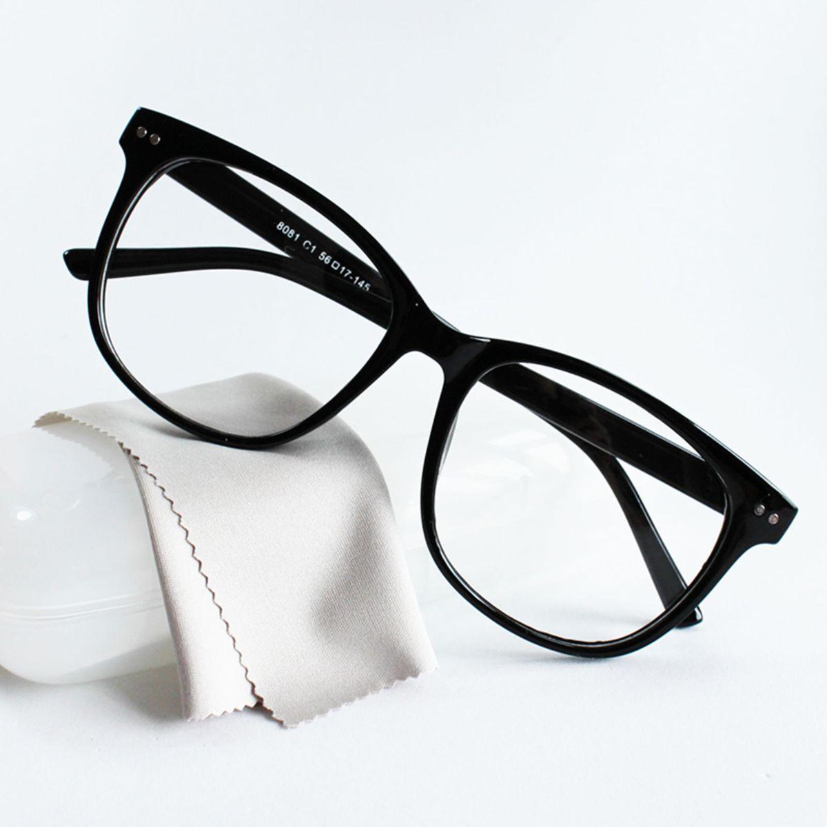 não reativar - armação óculos para grau feminina quadrada preto básico - óculos  sem marca 37470f4e4e