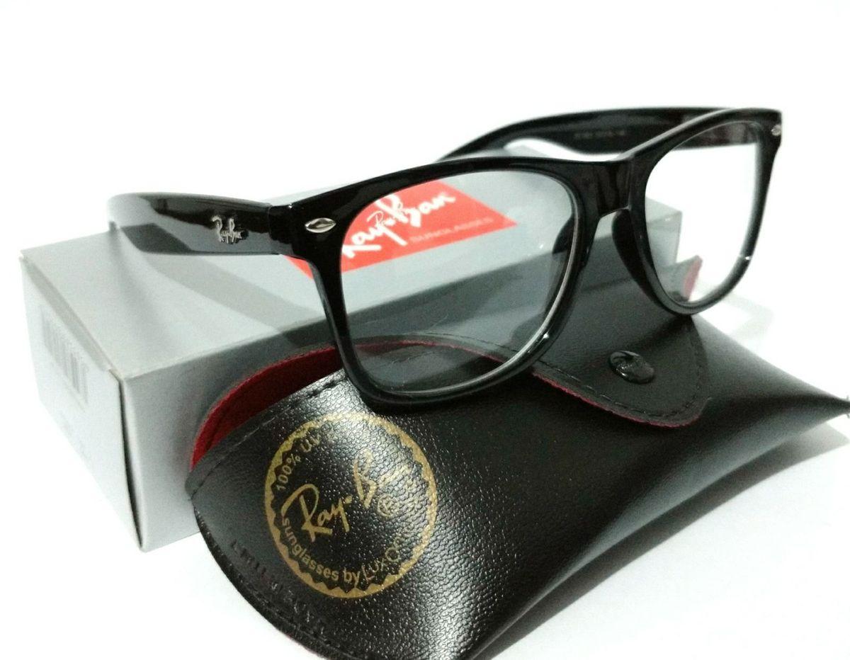 6bac83d7890c0 Armação P  Óculos de Grau Quadrado Preto Ray-ban   Óculos Feminino ...