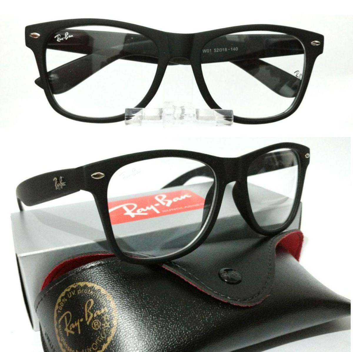 8c0919f17460d armação p óculos de grau ray ban wayfarer preto fosco feminino e masculino  - óculos rb