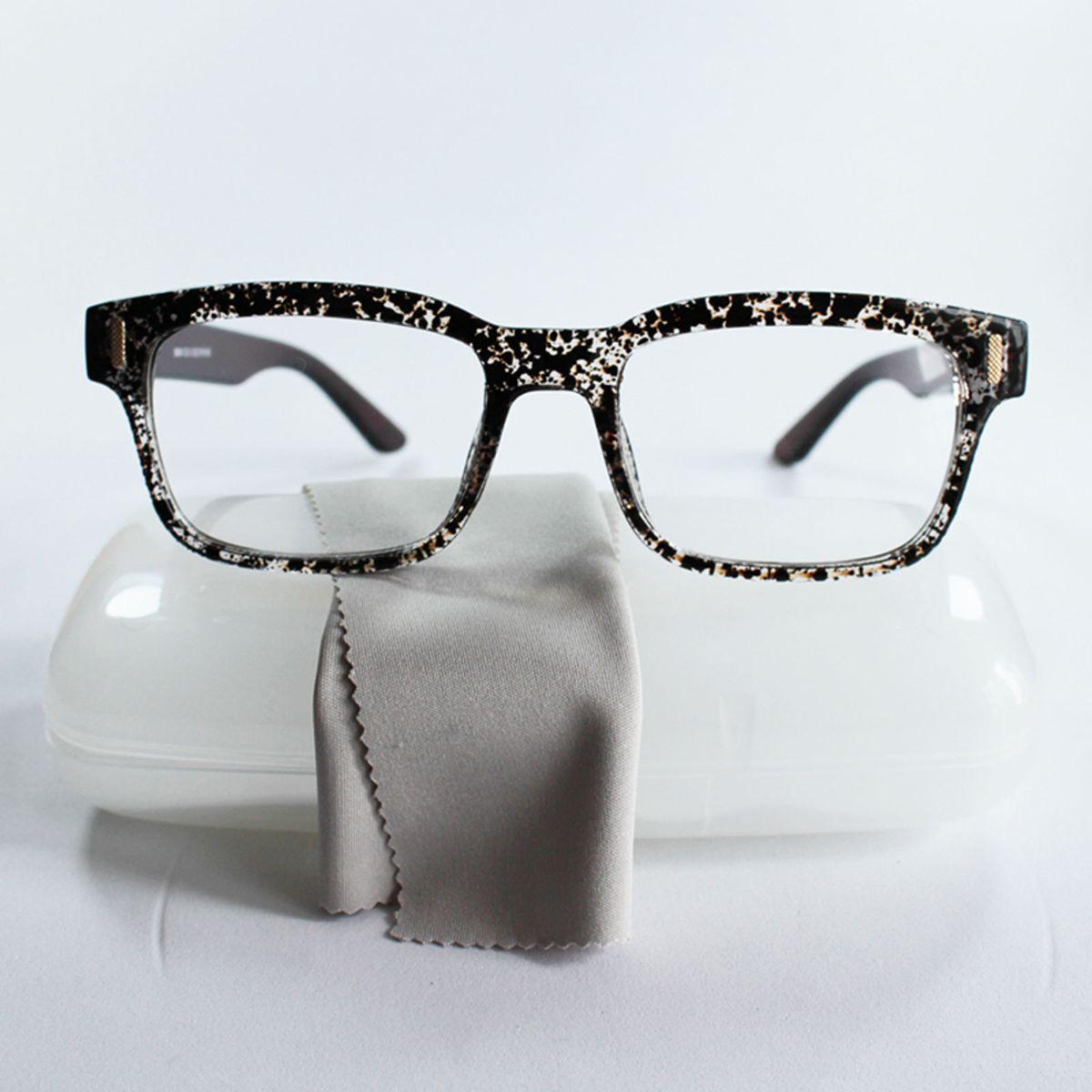 Armação para Grau Retangular Feminina Estampadinha   Óculos Feminino Nunca  Usado 22861817   enjoei 42f95d2f05
