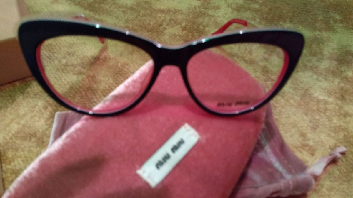Armação para Óculos de Grau Miu Miu Original   Óculos Feminino Miu ... a71ba23f77