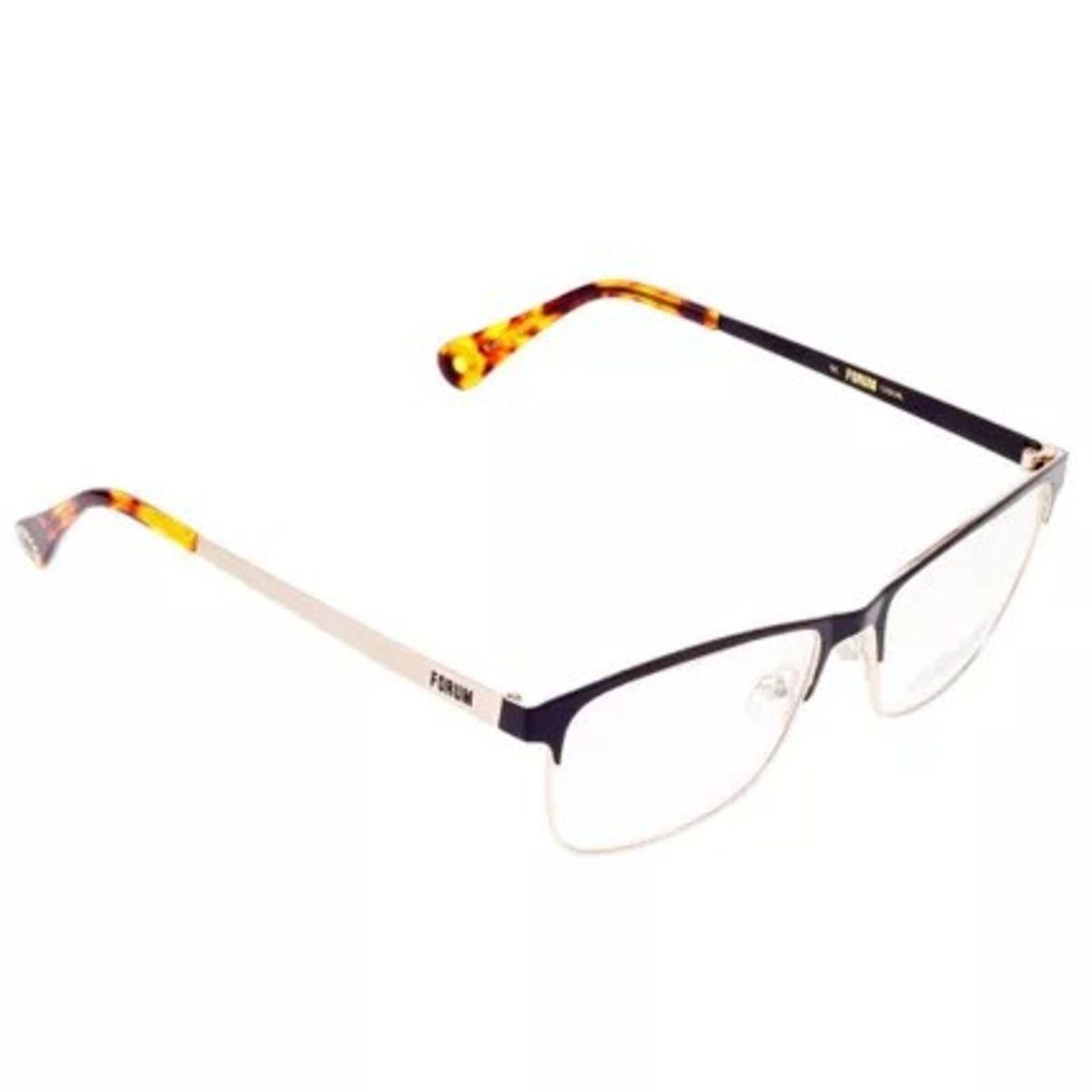 ce3b24fc9f699 armacao para oculos de grau unissex f6003 forum - preto-dourado - óculos  forum