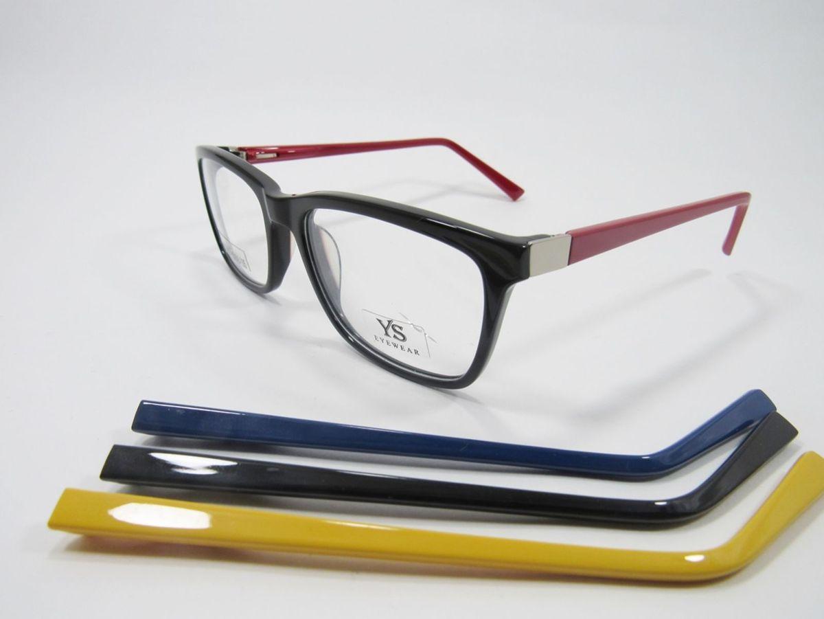 88f680ea armação para óculos em acetato e troca hastes ys  lançamento - óculos ys