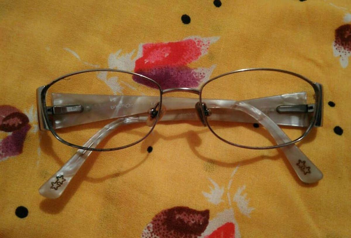 906dbe379 Armação para Óculos Retrô Luxottica | Óculos Feminino Luxottica ...