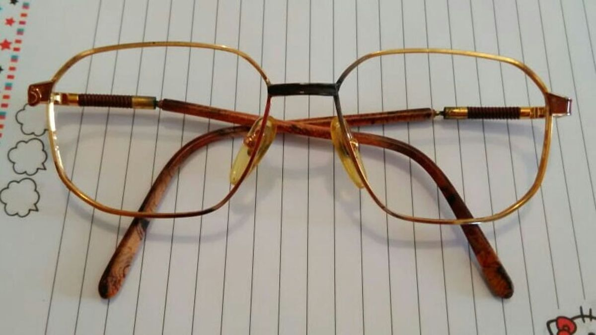 Armação para Óculos Vintage Metal Dourado   Óculos Feminino Flexus ... b85d7922e2