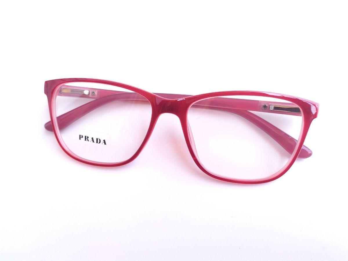 Armação Prada Vermelho Óculos   Óculos Feminino Prada Nunca Usado 10    enjoei