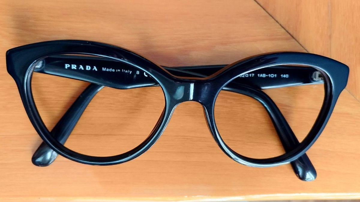 14 Armação Prada   Óculos Feminino Prada Usado 10   enjoei