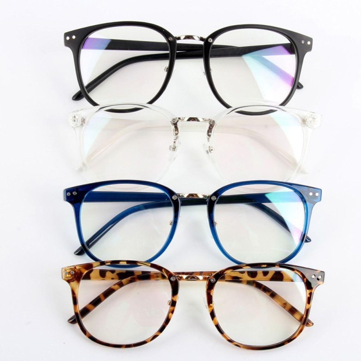 b60eb4e227323 Armação Quadrada Preto Fosco, Transparente, Azul e Tartaruga.   Óculos  Feminino Nunca Usado 21350831   enjoei