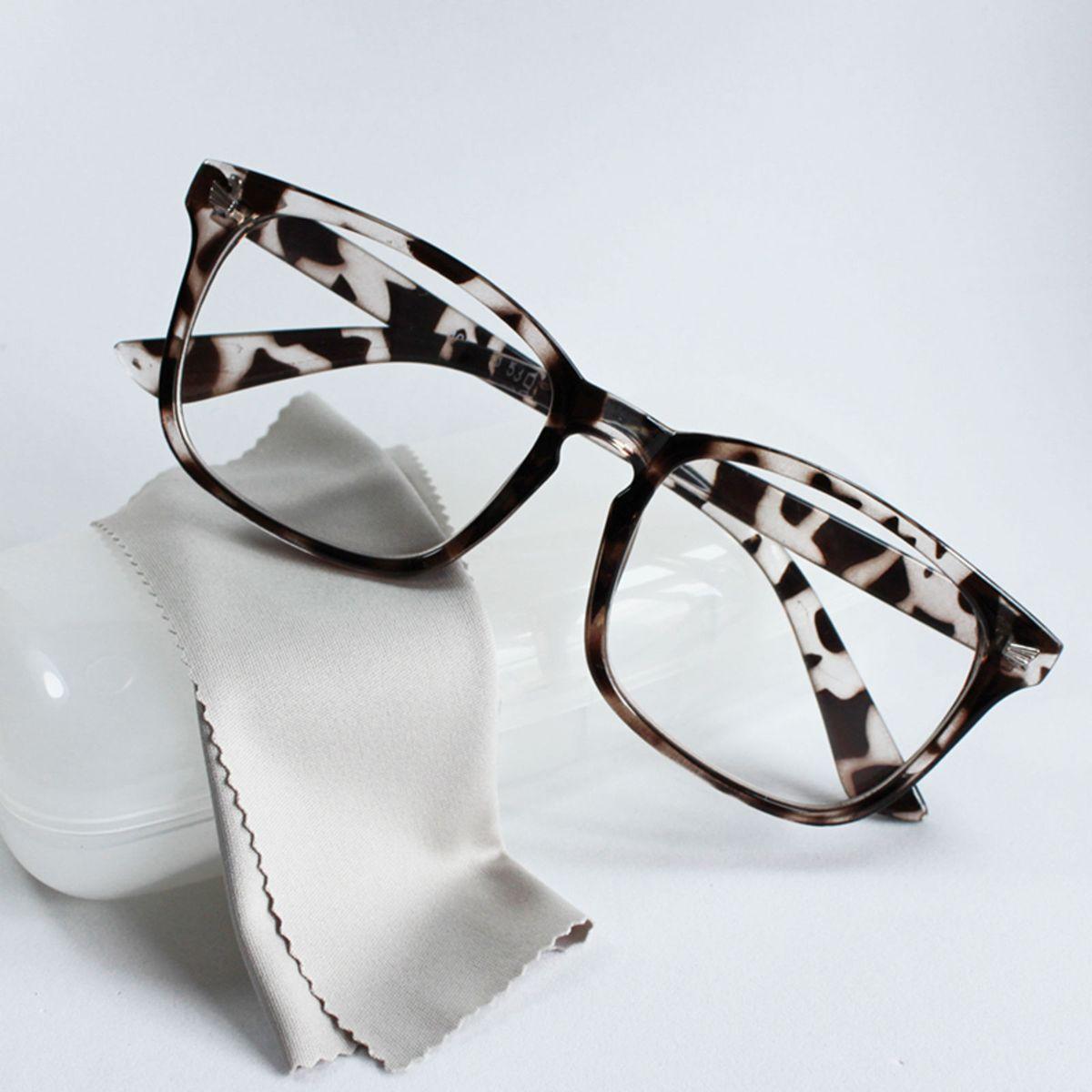 a051565f0388e armação óculos para grau feminina quadrada retangular básica oncinha  tartaruga - óculos sem marca