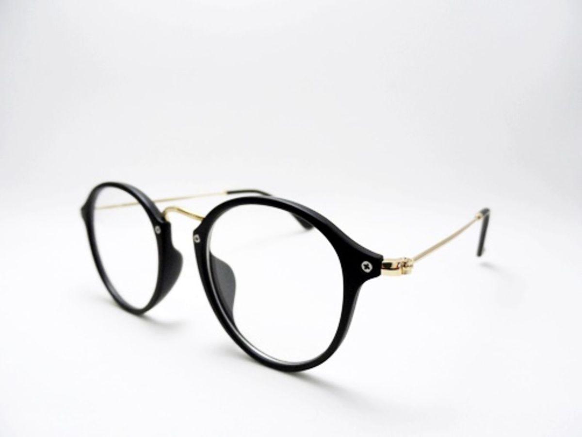 Armação Redonda Preta Feminina para Grau Estilo Retro Vintage   Óculos  Feminino Ray Ban Nunca Usado 19257773   enjoei 92f3015213
