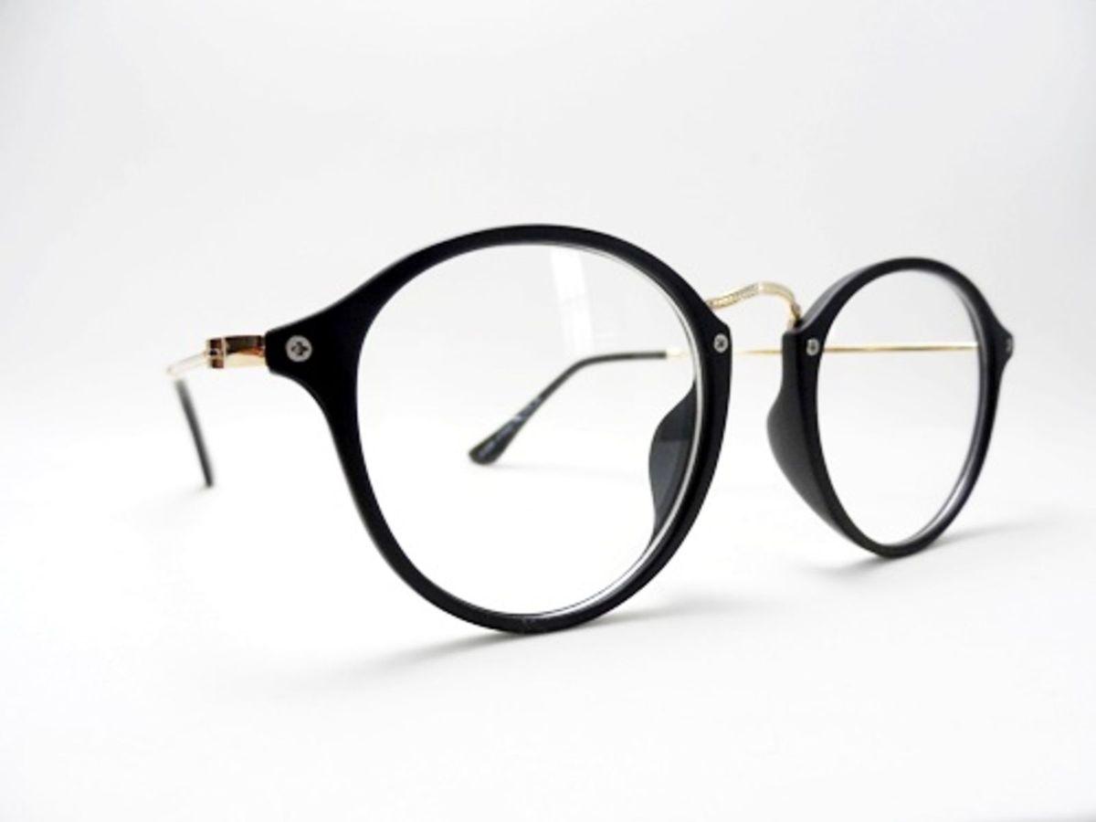 armação redonda preta feminina para grau estilo retro vintage - óculos ray  ban 2210e4d377