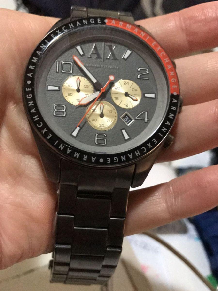 86554f6a498ec Armani Exchange Ax 1184   Relógio Masculino Armani Exchange Usado ...