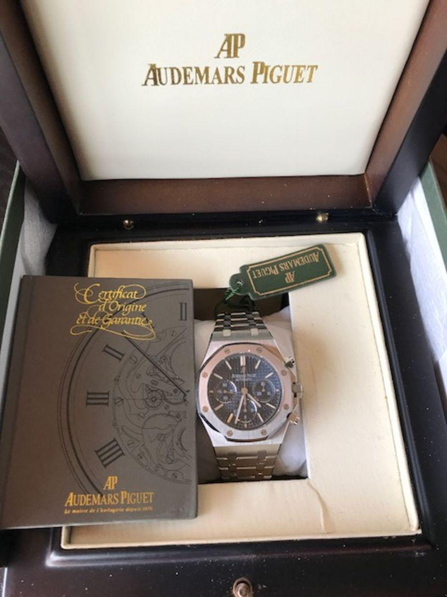 2a09b338e82 audemars piguet royal oak chronograph blue 41mm - relógios audemars piguet