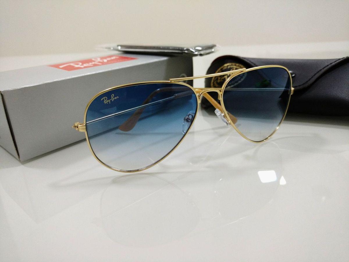 aviador 3026 e 3025 azul degradê ray-ban masculino e feminino - óculos ray- b81f420e90