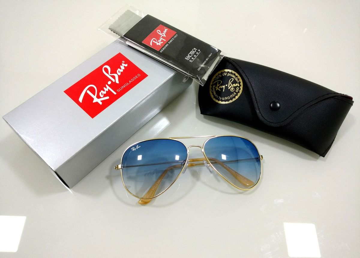 d900c9312d13f Aviador 3026 e 3025 Azul Degradê Ray-ban Masculino e Feminino   Óculos  Feminino Ray Ban Nunca Usado 28686111   enjoei