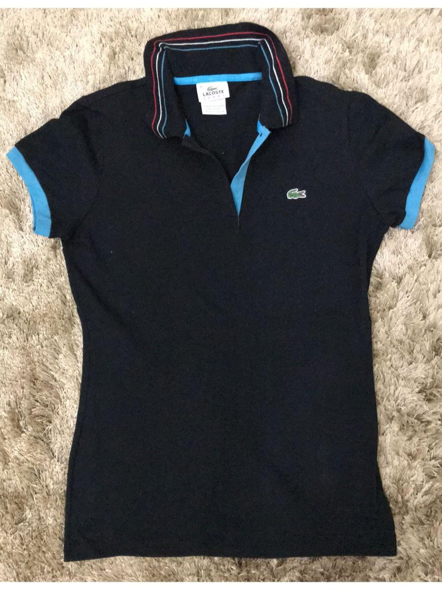 Baby Look Feminina Lacoste Original Camiseta Feminina Lacoste
