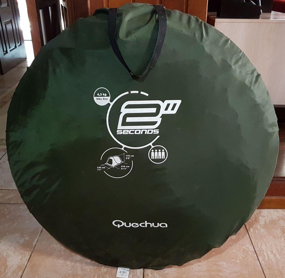 a67c1c643 barraca de camping quechua 2 seconds 4 pessoas - esportes e outdoor quechua