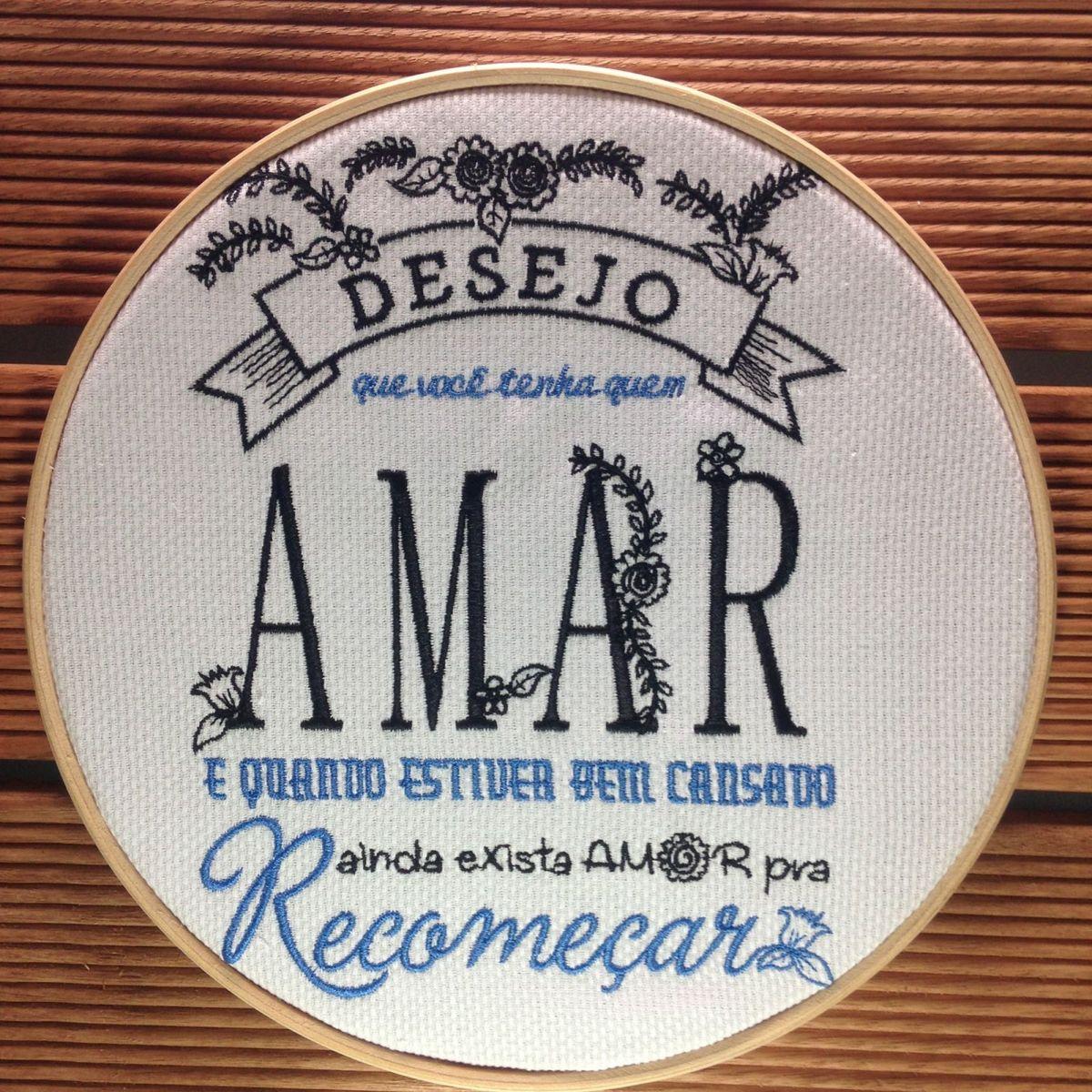 aceeb4b9e4 Bastidor de Madeira Recomeçar