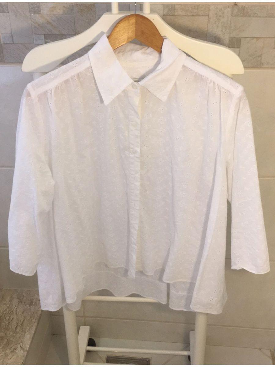 a99c9d020a bata branca de algodão casual street - camisas casual street