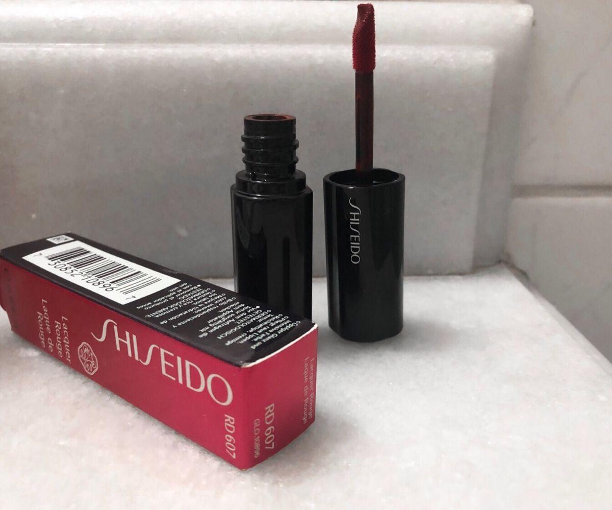 batom shiseido lacquer rouge - maquiagem shiseido