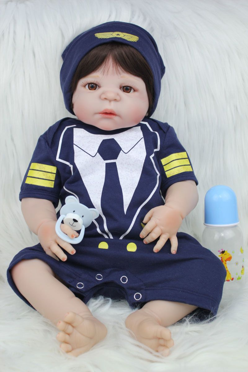 bebê reborn barato menino piloto silicone frete grátis os013 - pequeninos  npk b9da9b585a1