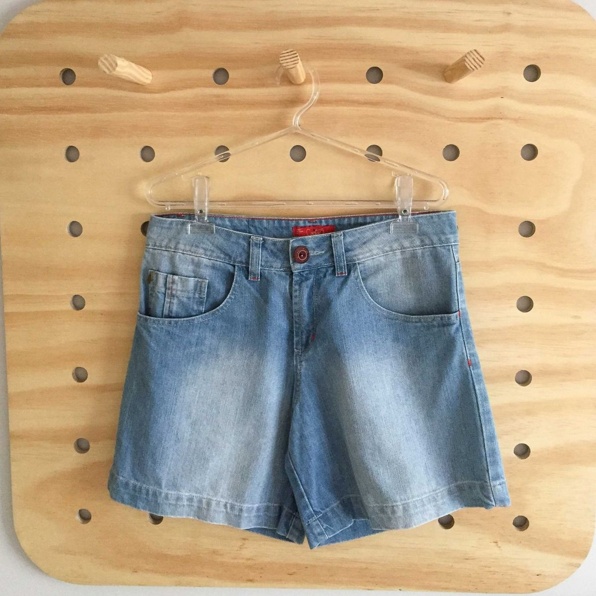 cd9429ab7 Bermuda Jeans Cantão   Shorts Feminino Cantão Usado 25757840   enjoei