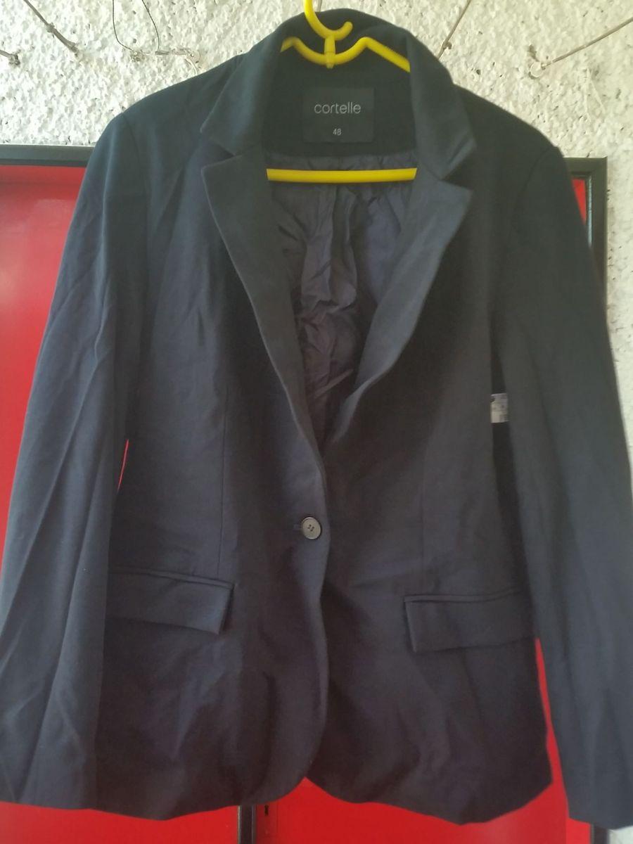 25f8c9ccad blazer casaco feminino - preto - plus size   tamanho 48 - casaquinhos cort(.