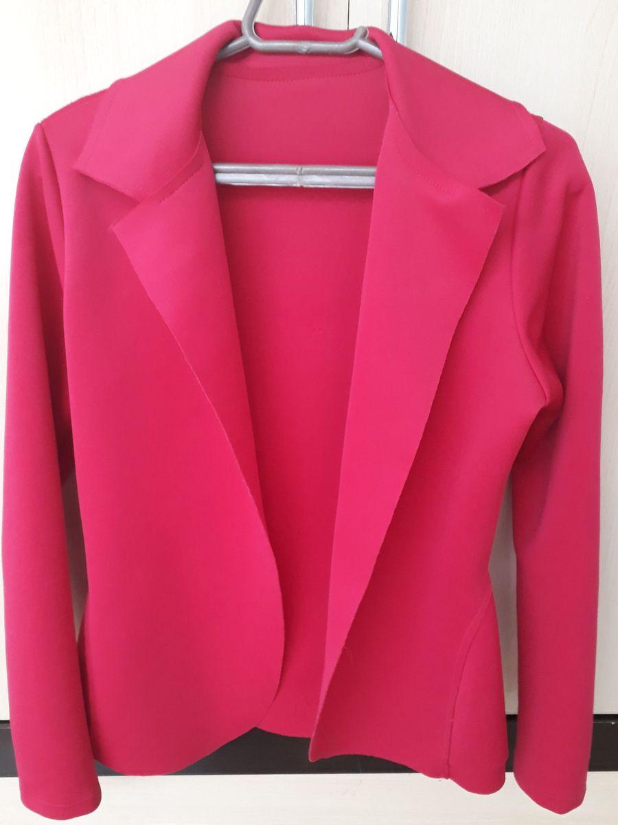 16e551e111 blazer feminino rosa pink neoprene - blazer sem marca