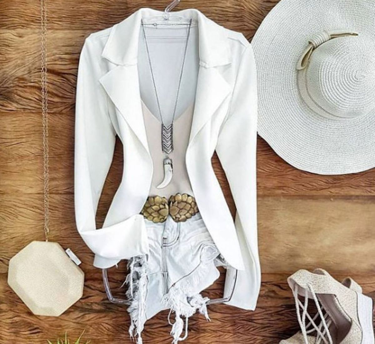 blazer feminino com medidas neoprene branco - casaquinhos sem-marca