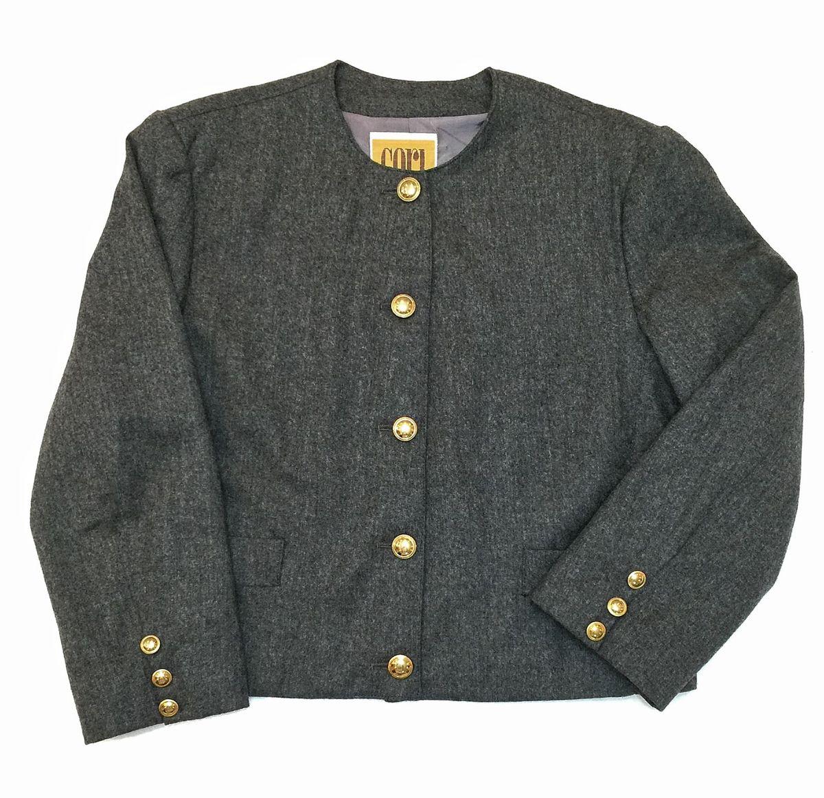 1e11da836c blazer lã de carneiro cinza chumbo cori - casaquinhos cori