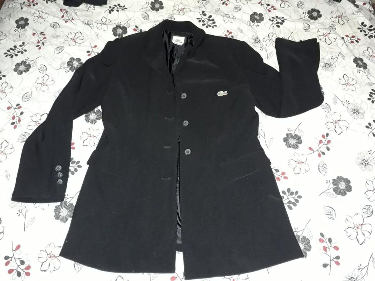 5ff146a4da4 blazer lacoste original preto feminino mas unisex - blazer lacoste