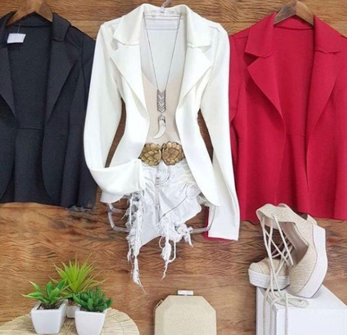 40e86e7ea8 blazer feminino neoprene cores - casaquinhos sem-marca