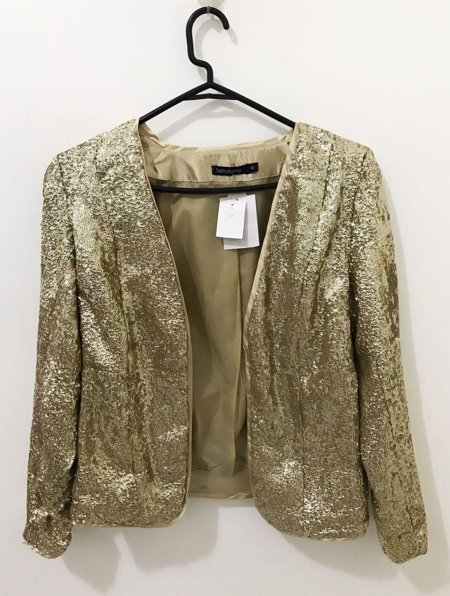 blazer paetês dourado lantejoulas festa - casaquinhos talita kume 35eb12e4d3a