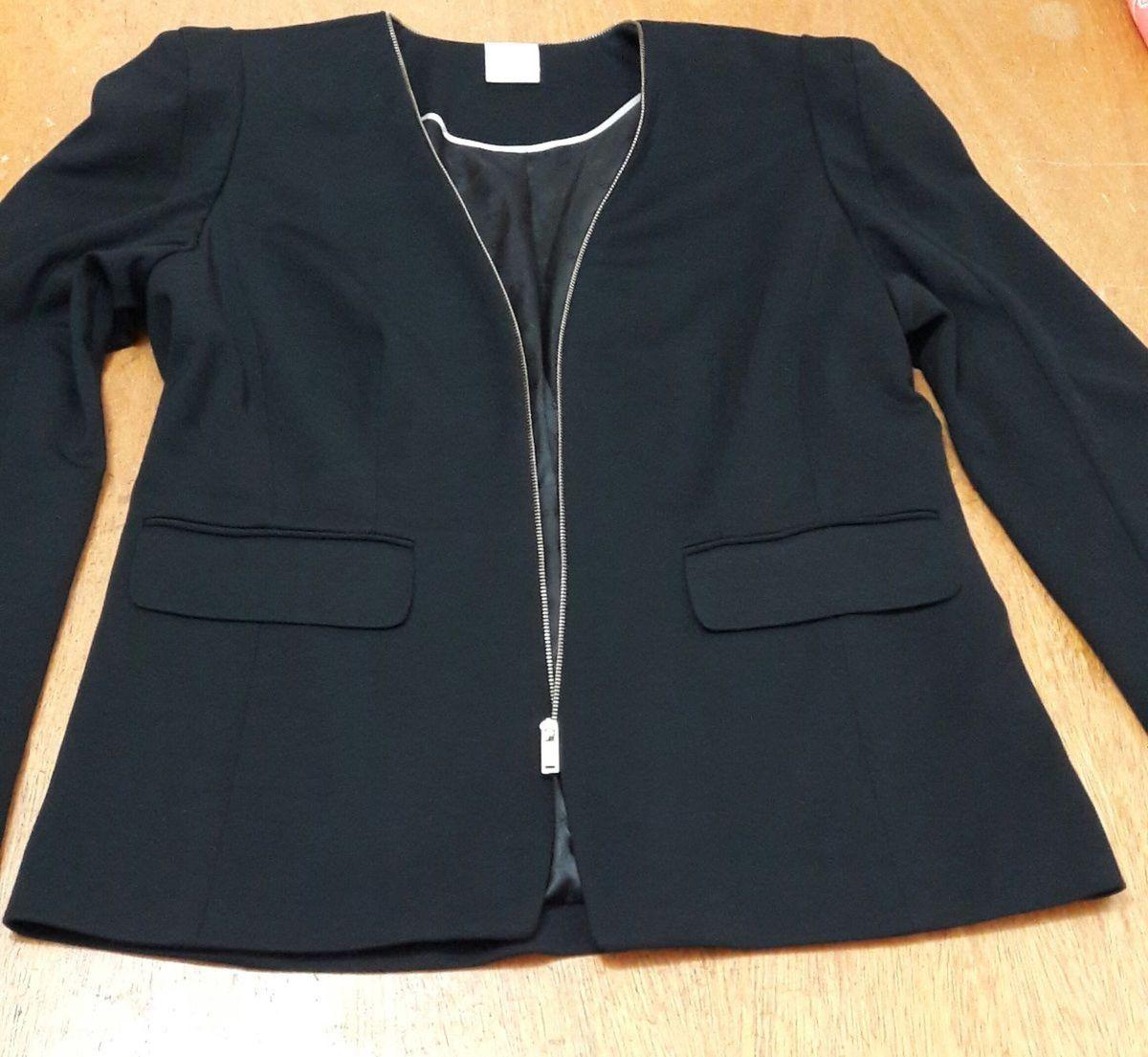 e417303317 blazer preto social poliéster e elastano - forrado - tam. 44 - casaquinhos  a collection