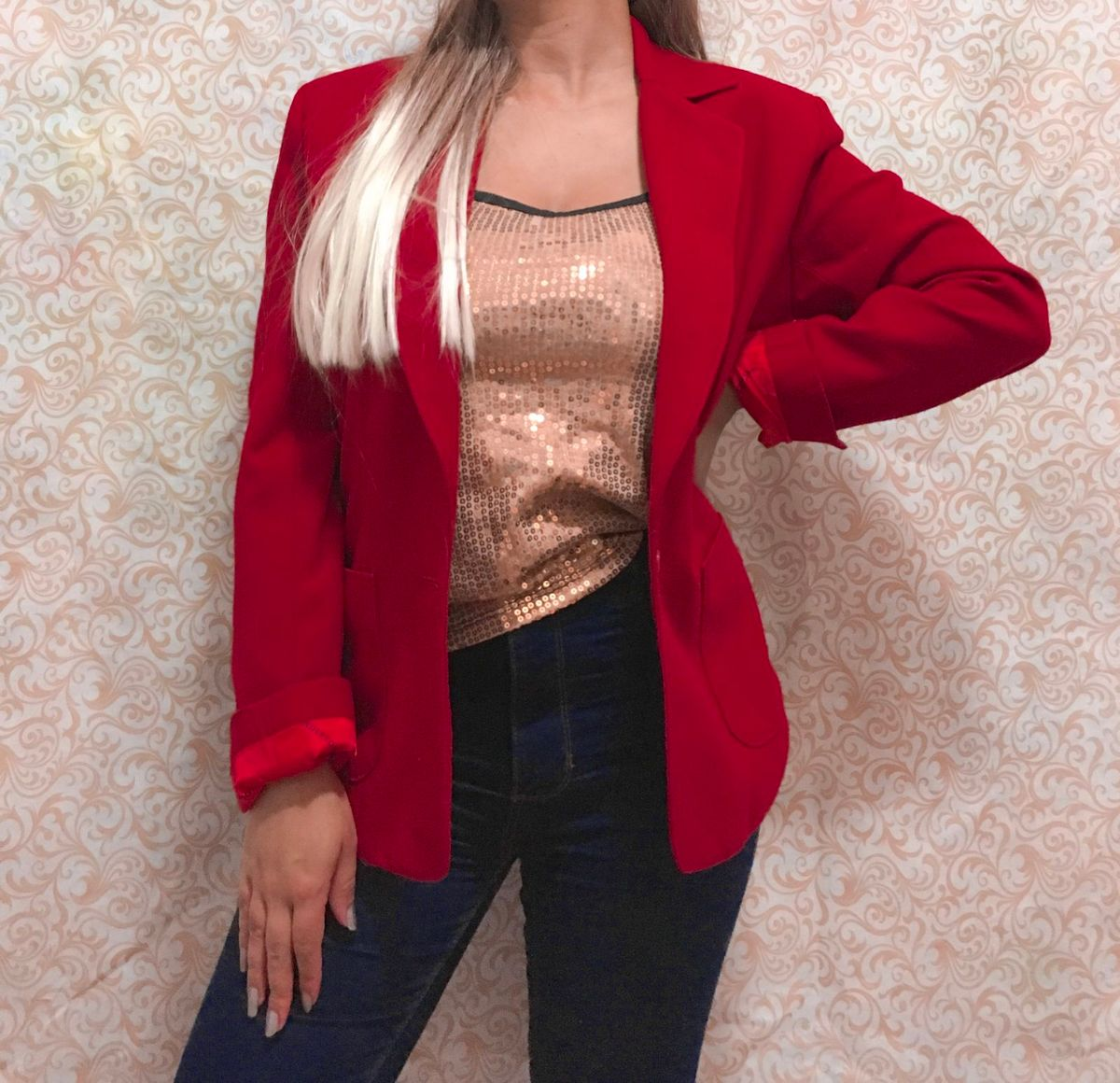 blazer vermelho - blazer pendleton