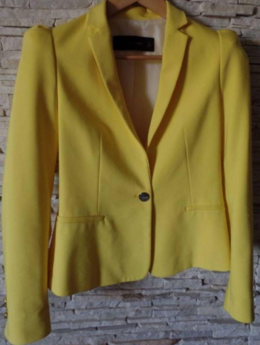 blazer zara amarelo - casaquinhos zara