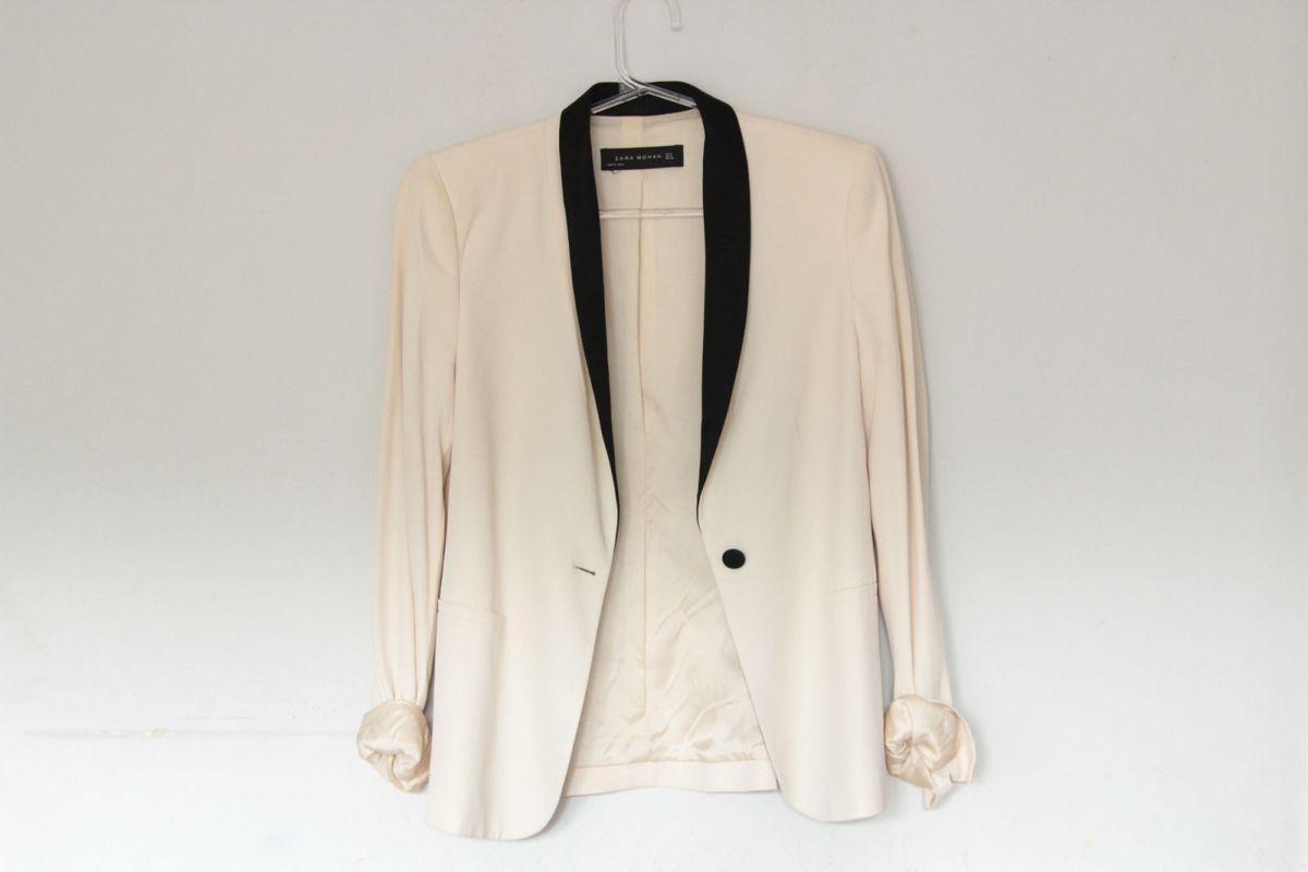 blazer zara bicolor - casaquinhos zara