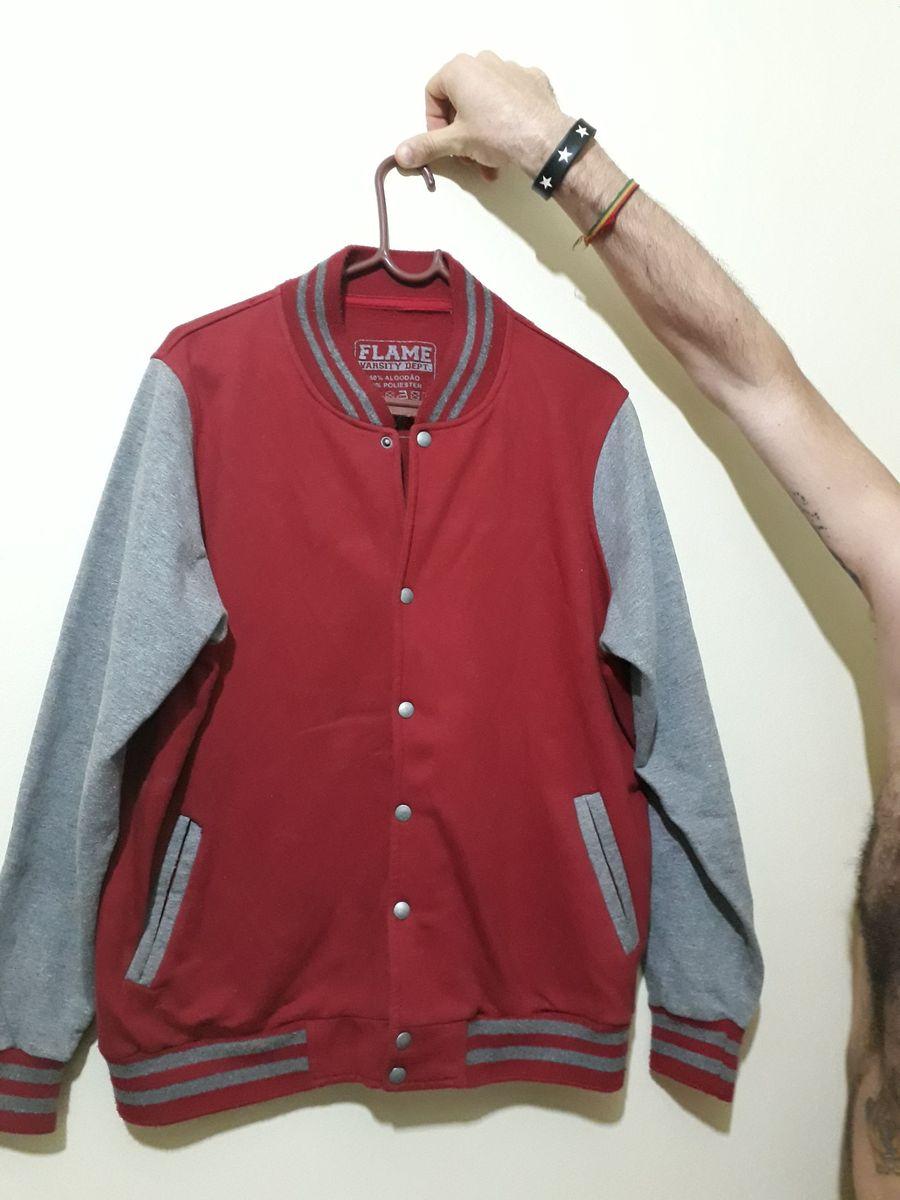a4ad382a7b blusa algodão flame estilo americano - blazer flame