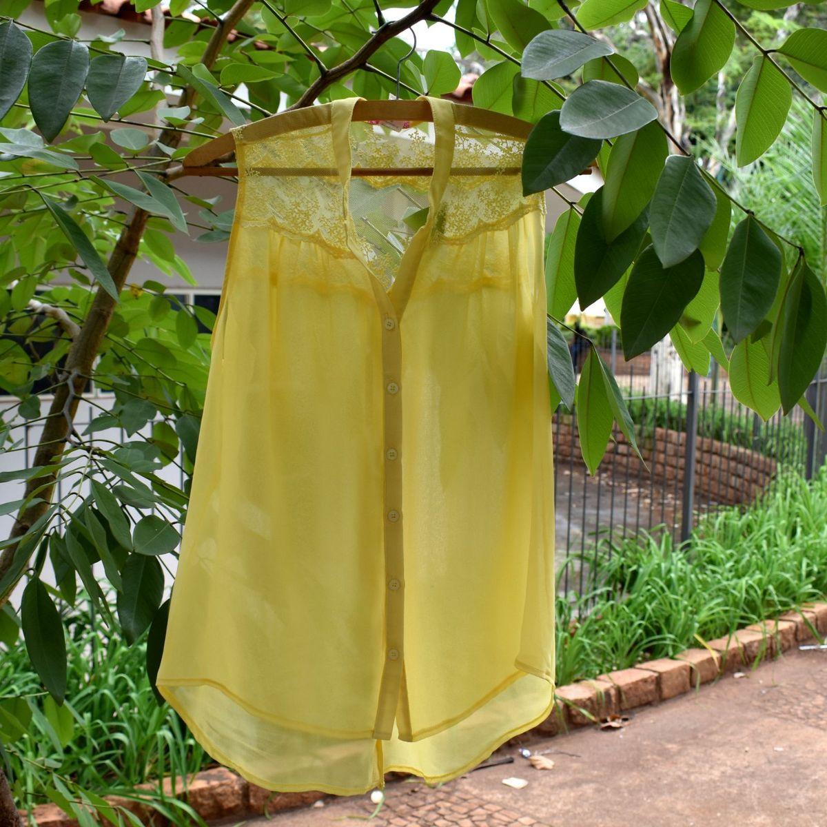 blusa amarela mazarin - blusas mazarin
