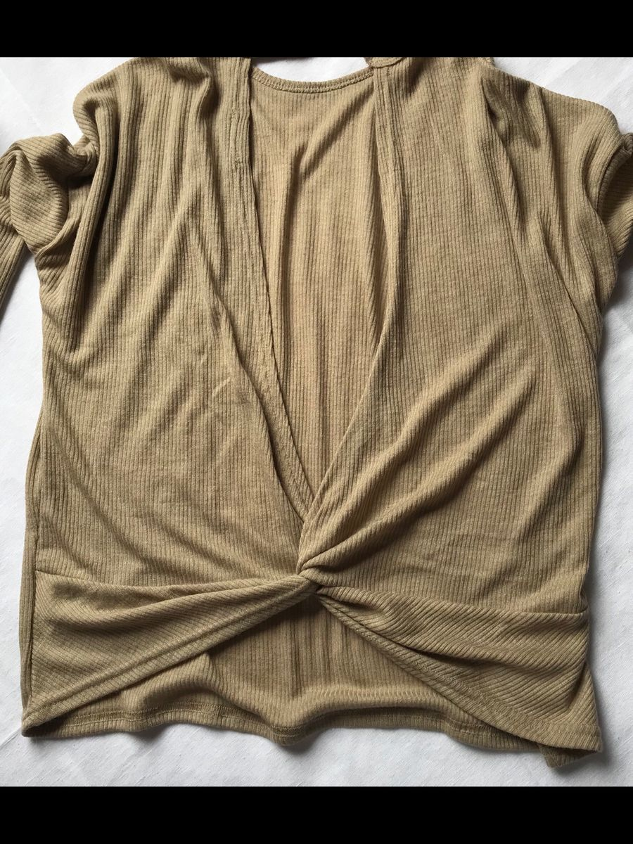 blusa beje - blusas shein