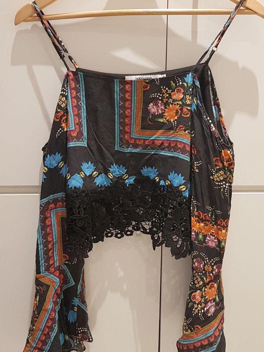 blusa boho estampada - blusas botswana