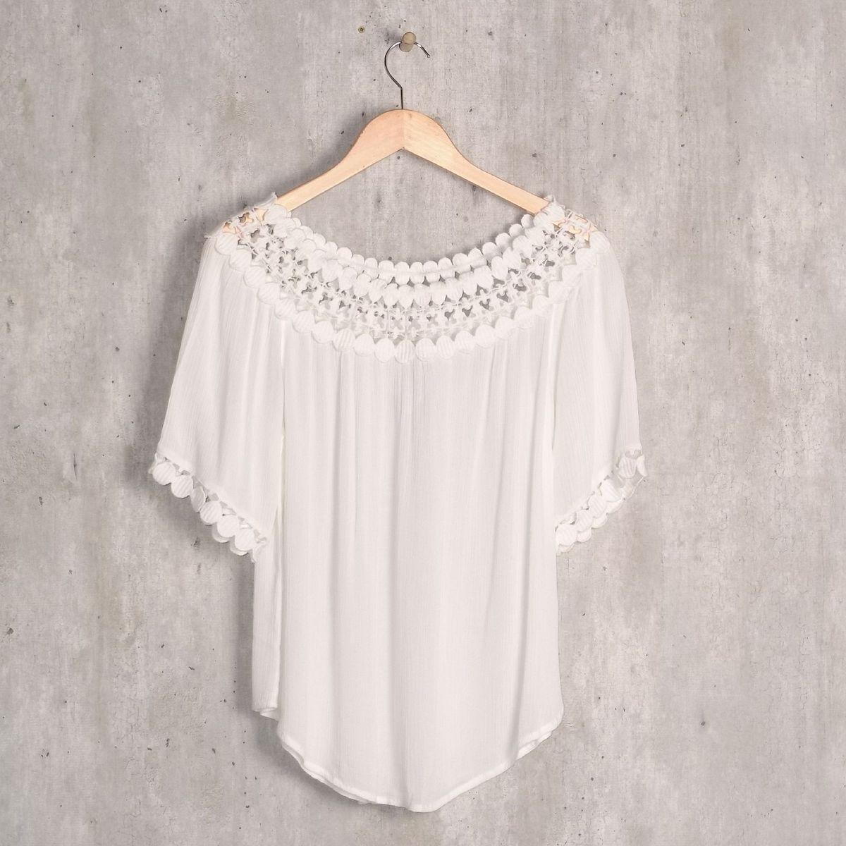 blusa branca yessica - blusas yessica