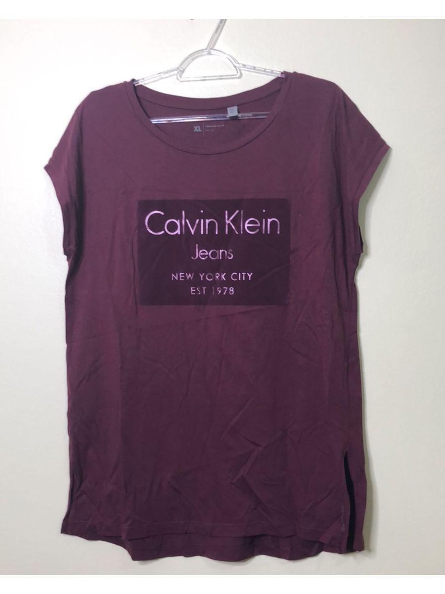 d23f534ddb139 blusa calvin klein jeans tamanho xl - blusas calvin klein